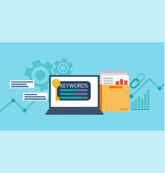 keywords tool word matching program vector image vector image