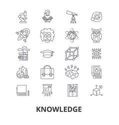 knowledge learning manader book education vector image vector image