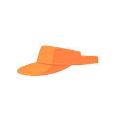 orange golf visor sport equipment cartoon vector image