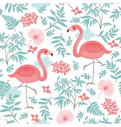 seamless pattern with a flamingo vector image vector image