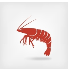 shrimp seafood logo vector image vector image