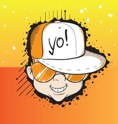 Yo dude vector image