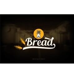 Bread shop logo vector image