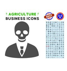 deadly manager icon with agriculture set vector image vector image