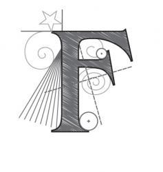 f vector image