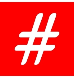 Hashtag sign vector image vector image