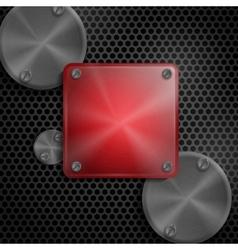 Abstract Technology Metal Texture Button vector