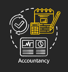Accountancy chalk concept icon budgeting vector