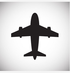 airplane icons on white background for graphic and vector image