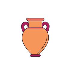 amphora icon cartoon style vector image