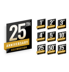 anniversary logotype labels set design vector image