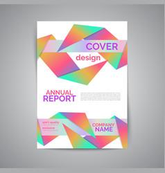 Annual report template modern flyer vector