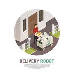 Automatic food delivery background vector