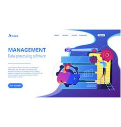 Big data applicationsconcept landing page vector