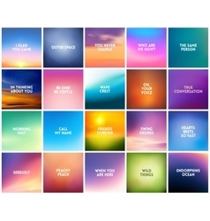 BIG set N3 of 20 square blurred nature backgrounds vector image