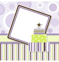 Birthday celebration card vector
