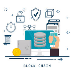 Block chain tecnology concept vector