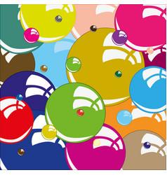 Bubble miscellaneous of the colour vector