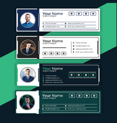 Business creative email signatures template design vector