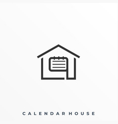 calender house template vector image