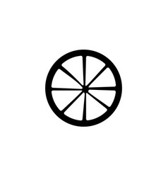 Cart wheel icon singe western icon from the wild vector