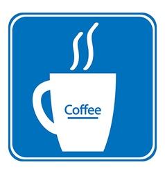 Coffee cup symbol button vector image