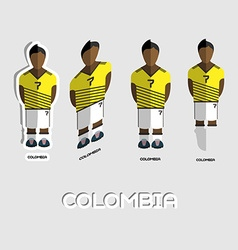 Colombia Soccer Team Sportswear Template vector image