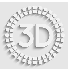 Creative mosaic icon vector