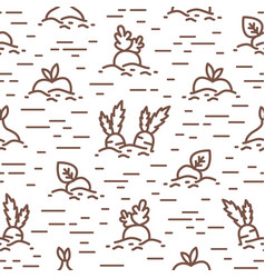 creative seamless pattern with cultivated vector image