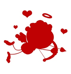 Cupid silhouette cartoon vector image