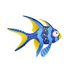 Decorative sea or aquarium fish on white vector