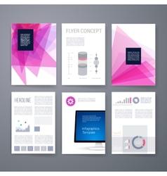 Design Template Set for Web Mail Brochures vector image