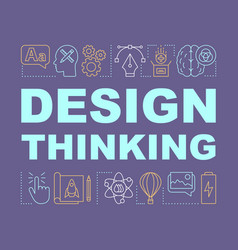 Design thinking word concepts banner vector