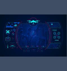 drone control vector image