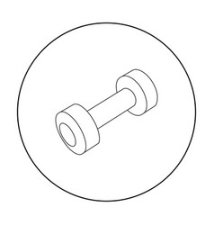 dumbbells icon outline single sport icon from the vector image