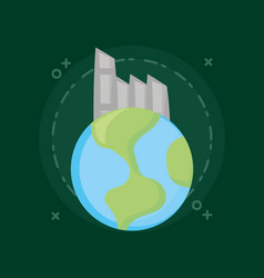 ecology and earth planet vector image