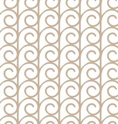 Elegant seamless pattern with beige swirls vector