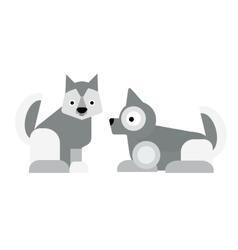 Eskimo dog vector image