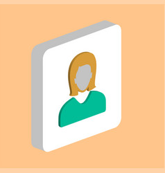female avatar user computer symbol vector image