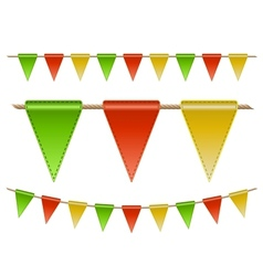 Festive flags on white background vector image