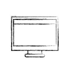 figure computer technology with screen and webside vector image