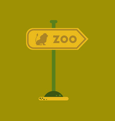 flat icon on background zoo sign vector image