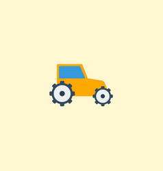 flat icon tractor element of vector image