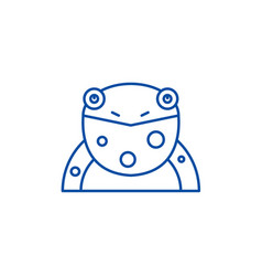 funny frog line icon concept funny frog flat vector image