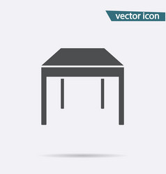 Gray table icon isolated on background modern fla vector