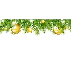 Green New Year Garland vector