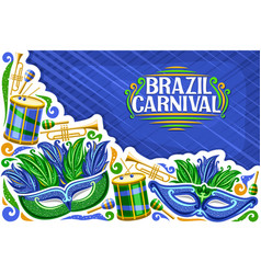 greeting card for brazil carnival vector image