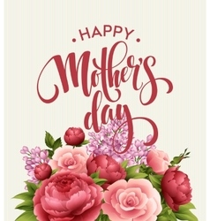 Happy Mothers Day Lettering card Greetimng card vector