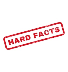 Hard Facts Text Rubber Stamp vector
