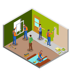 Home repair isometric design concept vector